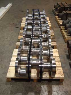 Finalized custom forged crankshafts at Great Lakes Forge