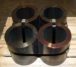 Forged steel rounds hollowed out at Great Lakes Forge Michigan