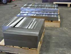 Blocks of stainless steel ready for blanket orders