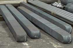 Steel rectangles prepped for forging at Great Lakes Forge