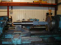 Steel spindles in a forging machine at Great Lakes Forge Traverse City, Michigan