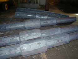Stepshafts preparing for custom forging at Great Lakes Forge in Michigan