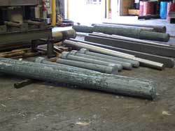 Forged shafts for the power generation industry made at Great Lakes Forge, Michigan